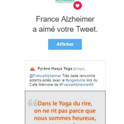 France Alzheimer aime le Yoga du Rire