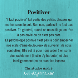 """Positiver"" : Petite mise au point"