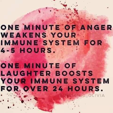 rire colère système immunitaire