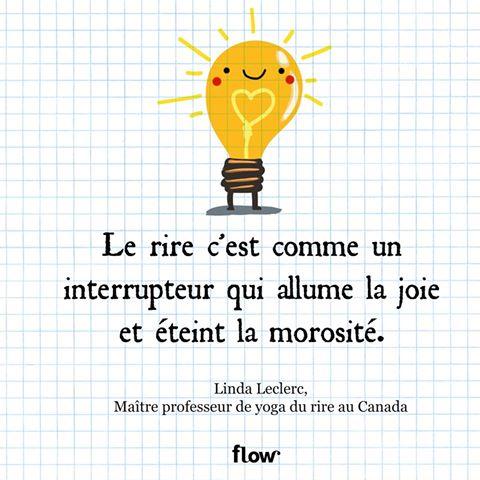 Rire Linda Leclerc dans Flow Magazine