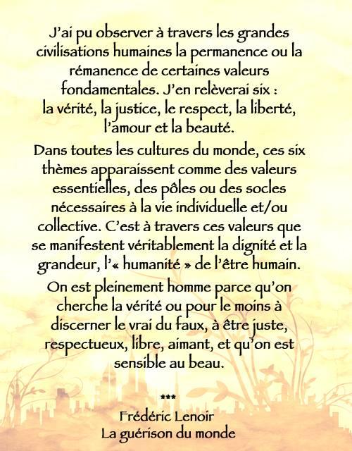 6 valeurs universelles