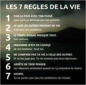 7 regles de vie