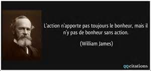 Action bonheur et william james