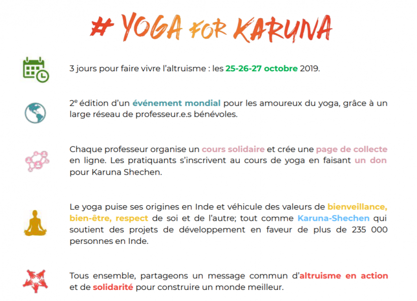 Yoga for karuna 27 octobre dojo argeles