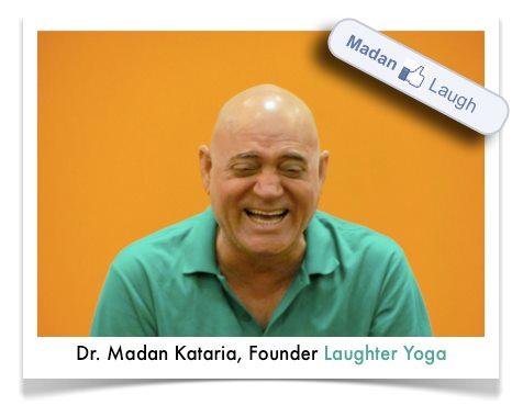 Le Dr Madan Kataria en pleine démonstration  ;o))